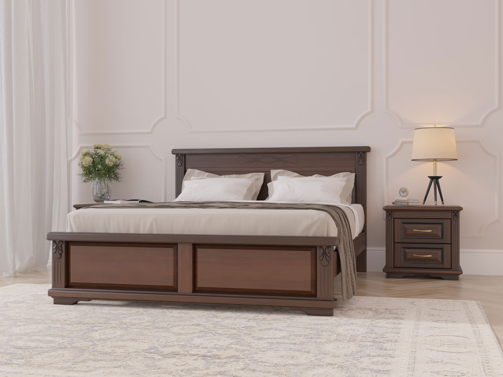 Дисконт (товар с уценкой) Кровать Dreamline Палермо 1 ясень-орех 140х200
