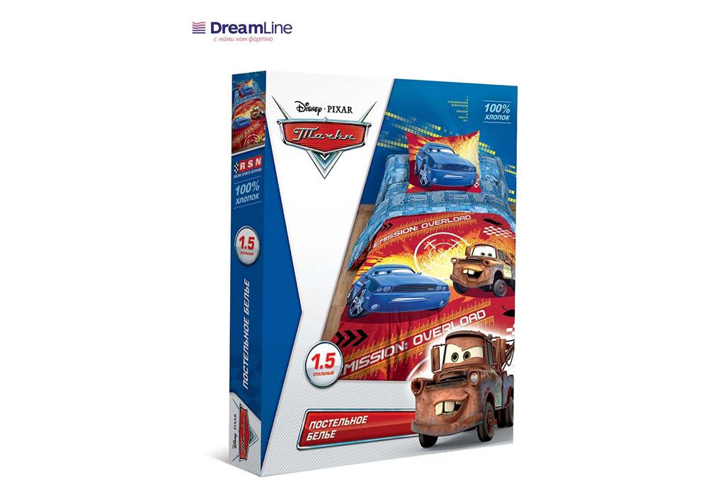 Постельное бельё Dreamline КПБ Disneyi 1,5СП Тачки