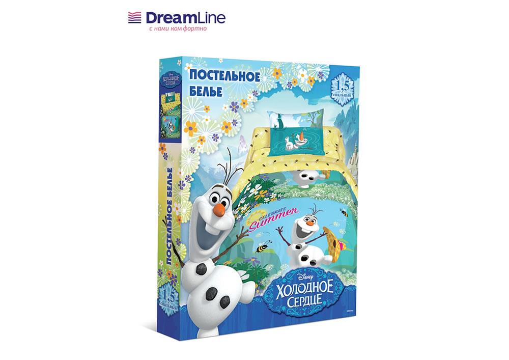 Постельное бельё Dreamline КПБ Disneyi 1,5СП  Холодное сердце